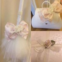 Pearl and lace lambath