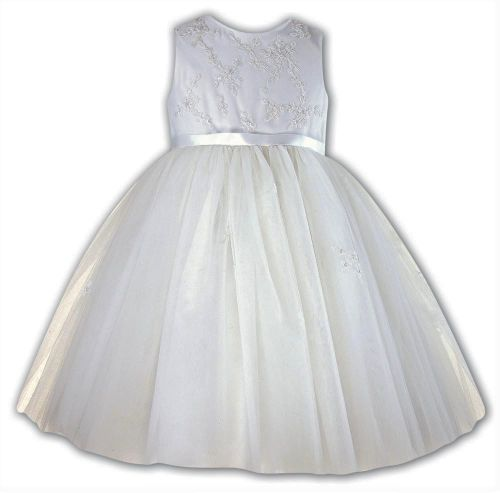 Ceremonial embellished bodice dress