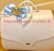 White Faux Leather Bag