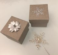 Grey Snowflake Christmas Favour