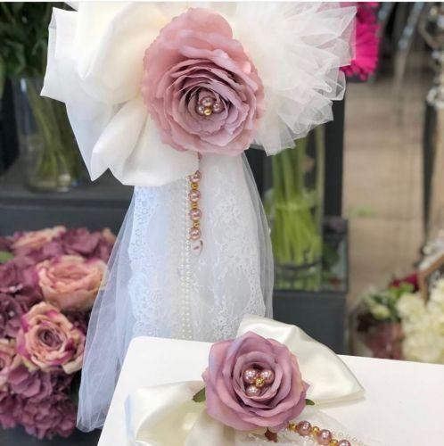 Vintage Rose and soft tulle lambatha