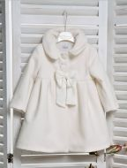 Ivory Coat with bow detail