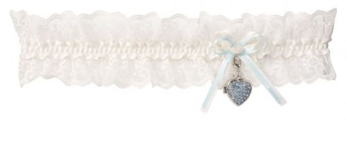 Lace Garter with a Heart Locket