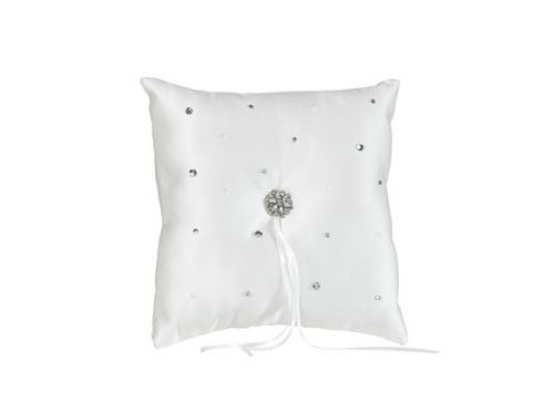 Wedding Ring Cushion with Diamante