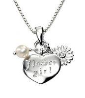 Flower Girl Silver Pendant