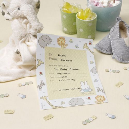 Baby Miffy Invitations