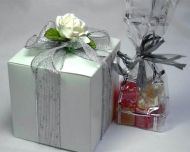 Large Favour Box with Ribbon and Flower