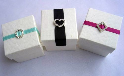 Square Box And Lid Jewelled Favour