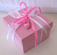 Square Favour Box with Bootie