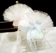 Crystal Tulle with Pram Motif Children's Favour