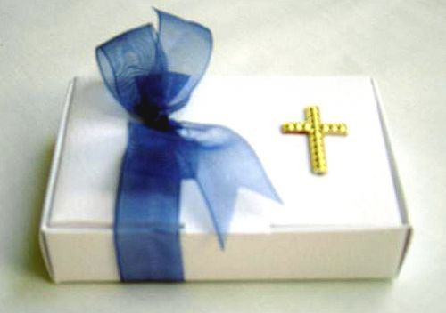 Confirmation Favour with Coloured Ribbon