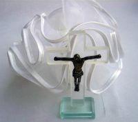 Glass Cross Communion or Christening Favour