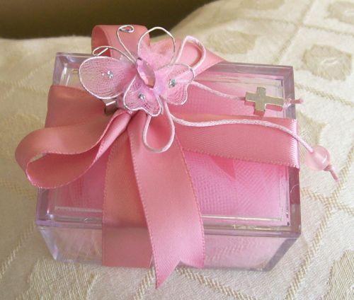 Transparent Box Christening Favour