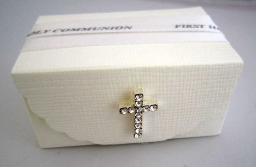 Holy Communion Favour Box with Cross