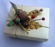 Christmas Favour Box with Seasonal Spray