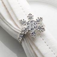 Snowflake Napkin Ring Christmas Favour