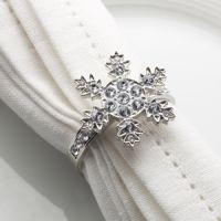 Snowflake Napkin Ring Christmas Favour