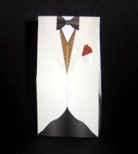 Tuxedo Suit Gentlemen's Favour Box