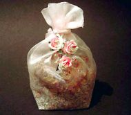 Scented Organza Bag filled with Real Rose and Lavender
